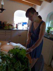 Ich am Kochen für einen Workshop 2014 in den Niederlanden